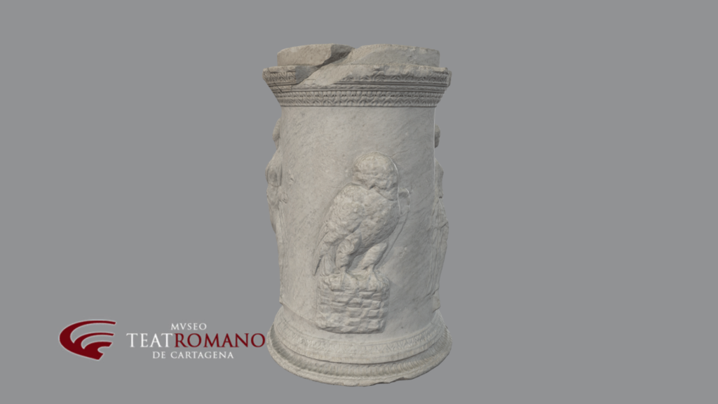 altar minerva museo teatro romano cartagena
