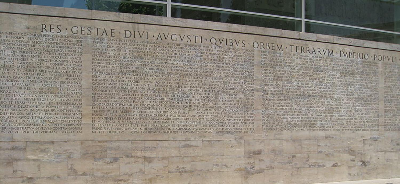 Res gestae divi augusti antigua roma al d a - Res gestae divi augusti ...