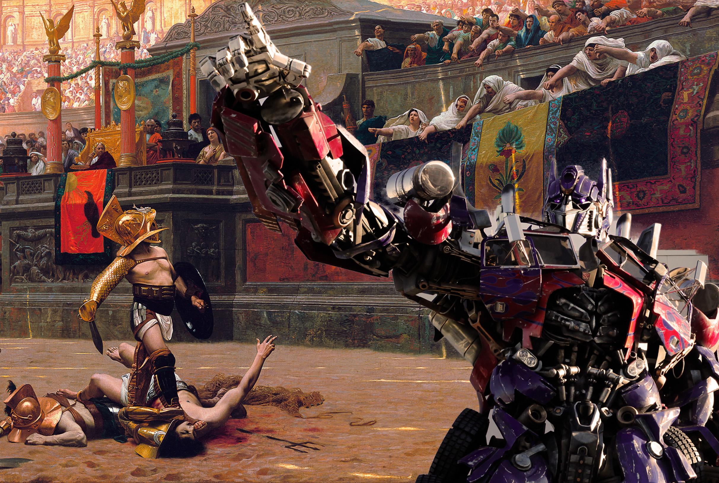 ¡Ave Imperator, los Transformers te saludan!