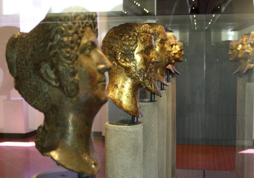 retratos bronce brescia museo santa giulia hallados en 1826