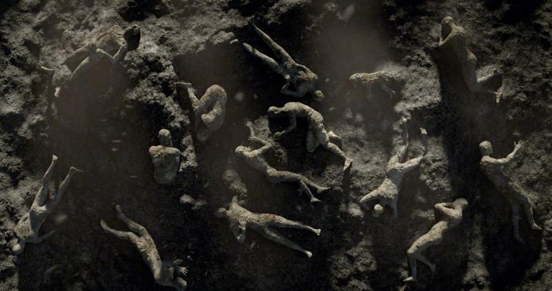 pompeya pelicula final cuerpos