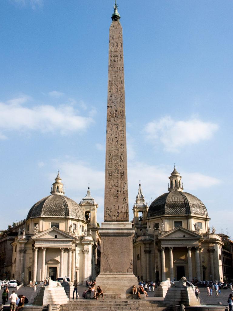 obelisco flaminio piazza del popolo erigido por Augusto en el Circo Maximo en el año 10 aC