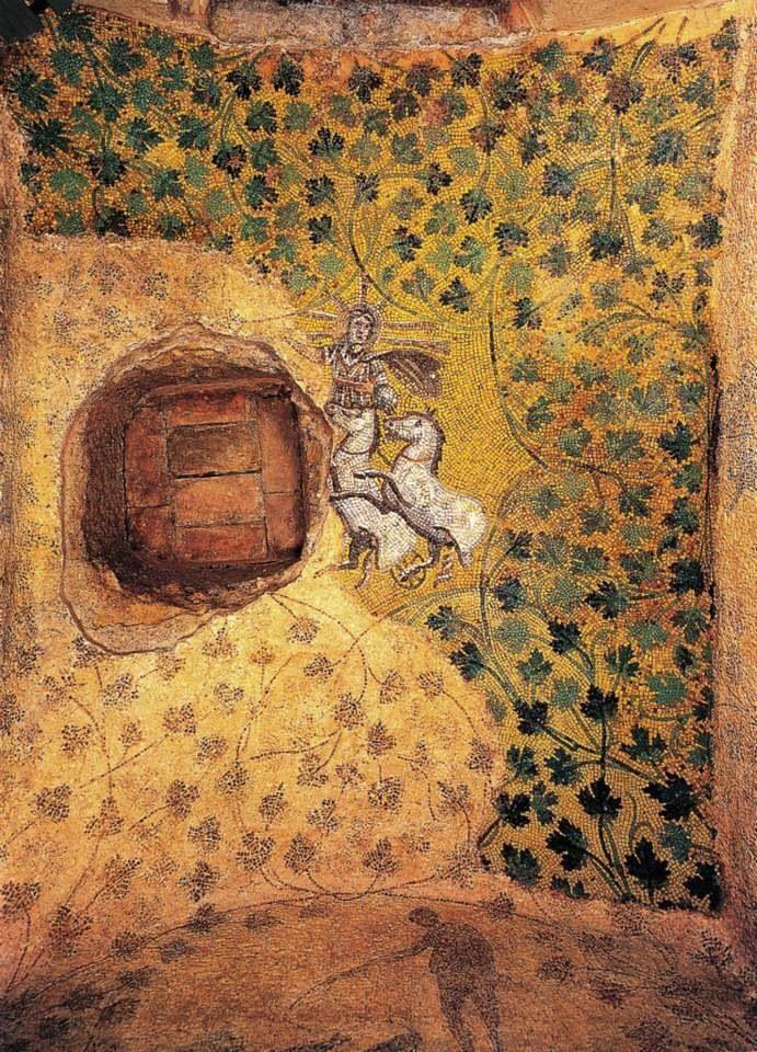cristo como dios sol necropolis vaticana siglo IV navidad